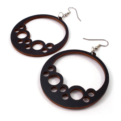 Bubble Hoop Sustainable Wooden Earrings - Available in 4 wood types
