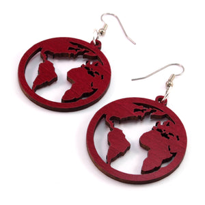 Globe Sustainable Wooden Earrings - Available in 3 sizes and 4 wood types