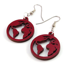 Load image into Gallery viewer, Globe Sustainable Wooden Earrings - Available in 3 sizes and 4 wood types