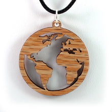 Load image into Gallery viewer, Globe Sustainable Wooden Pendant - Available in 2 sizes and 4 wood types