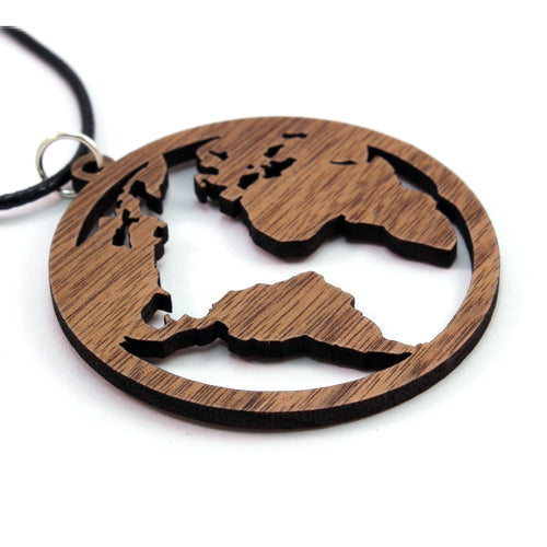 Globe Sustainable Wooden Pendant - Available in 2 sizes and 4 wood types