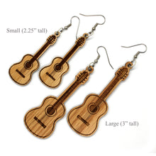 Load image into Gallery viewer, Acoustic Guitar Sustainable Wooden Earrings - Available in 2 sizes
