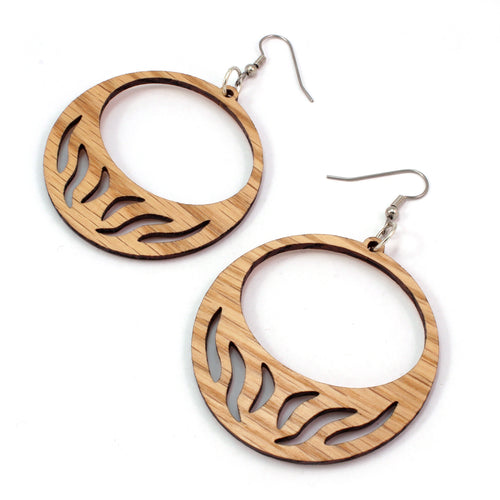 Slit Hoop Sustainable Wooden Earrings - Available in 4 wood types