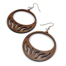 Load image into Gallery viewer, Slit Hoop Sustainable Wooden Earrings - Available in 4 wood types
