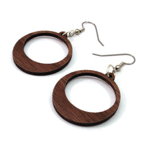 Load image into Gallery viewer, Simple Hoop Sustainable Wooden Earrings - Available in 2 sizes and 4 wood types