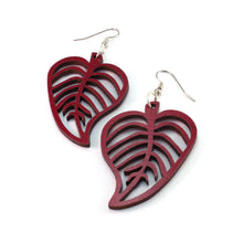 Load image into Gallery viewer, Leaves Sustainable Wooden Earrings - Available in 3 sizes and 4 wood types