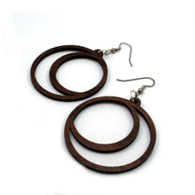 Load image into Gallery viewer, Crescent Hoop Sustainable Wooden Earrings - Available in 2 sizes and 4 wood types