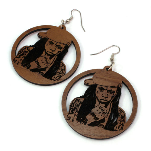Lil Wayne Sustainable Wooden Earrings