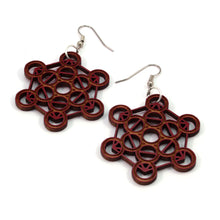 Load image into Gallery viewer, Metatron's Cube Sustainable Wooden Earrings - Available in 4 wood types