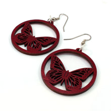 Load image into Gallery viewer, Monarch Butterfly Sustainable Wooden Earrings - Available in 2 sizes and 4 wood types