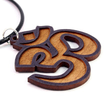 Load image into Gallery viewer, Om Symbol Sustainable Wooden Pendant - Available in 2 sizes and 4 wood types