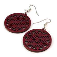 Load image into Gallery viewer, Flower of Life Sustainable Wooden Earrings - Available in 4 wood types