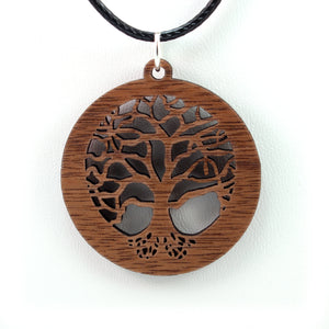 Tree of Life Sustainable Wooden Pendant - Available in 3 sizes and 4 wood types