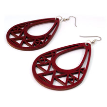 Load image into Gallery viewer, Triangle Teardrop Sustainable Wooden Earrings - Available in 2 sizes and 4 wood types