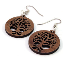 Load image into Gallery viewer, Tree of Life Sustainable Wooden Earrings - Available in 3 sizes and 4 wood types