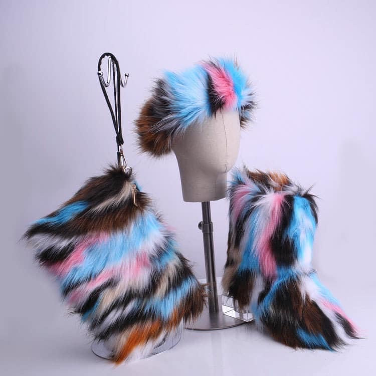 Milkwave Fur Boots Set