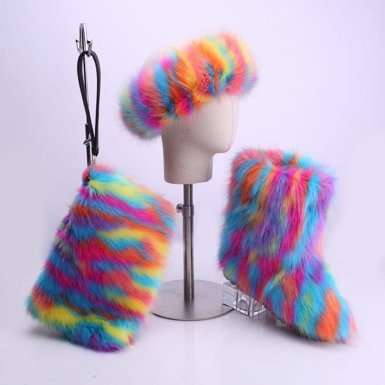 Rainbow Furboots Set