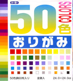 50 Colors Origami Paper