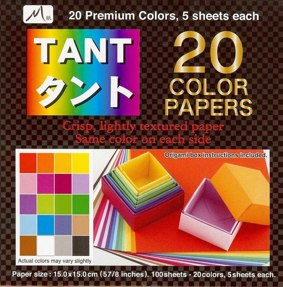 Tant 20 Colors Origami Paper