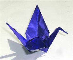 Prussian Blue Purple Foil Origami Paper