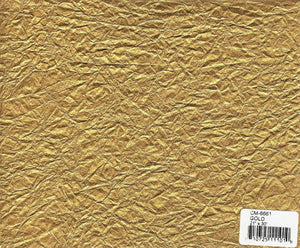 Crinkled Metallic Paper - Gold