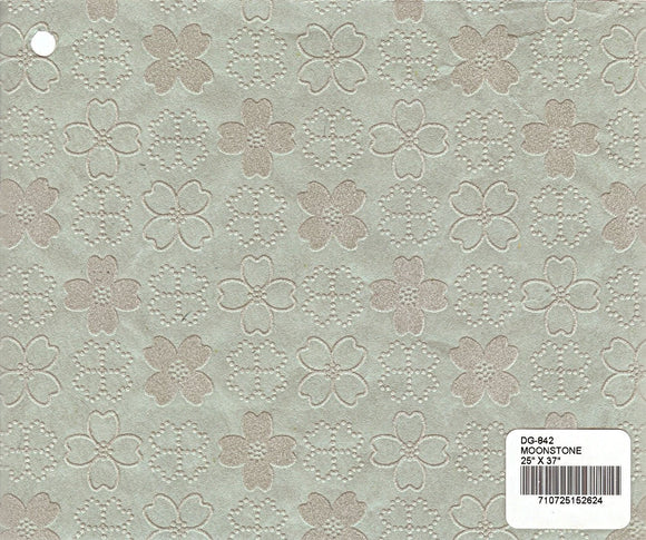 Flocked Dogwood Paper - Moonstone