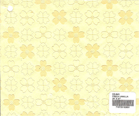 Flocked Dogwood Paper - French Vanilla