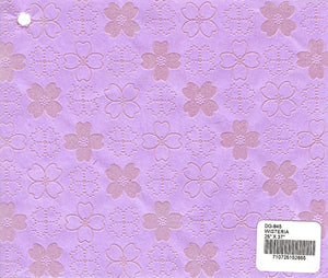 Flocked Dogwood Paper - Wisteria