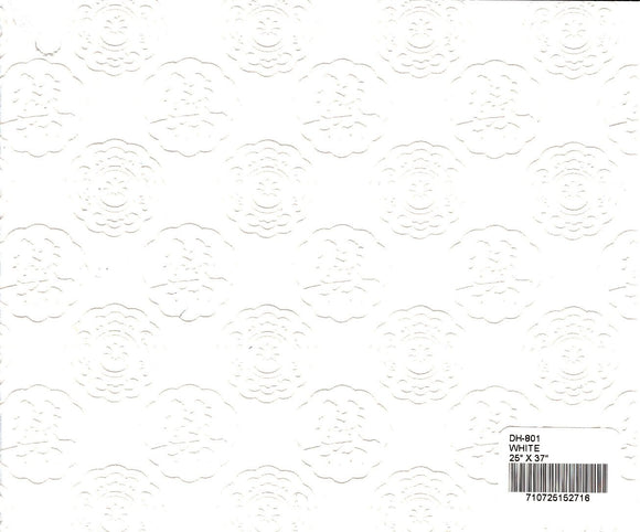 Flocked Double Happiness Paper - White