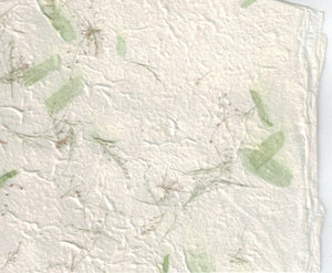 Handmade Paper - Floral Meadow Green