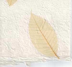 Handmade Paper - Yellow Rubber Tree