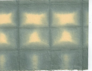 Itajime Shibori Window - Gray Yellow