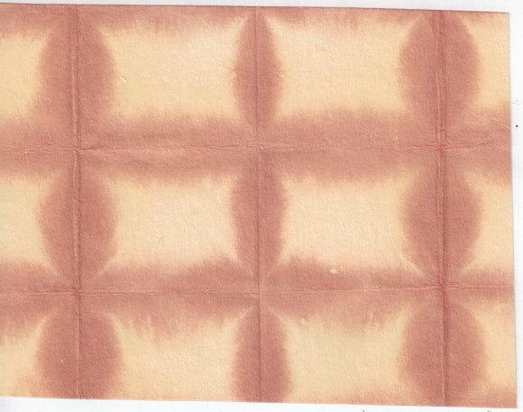 Itajime Shibori Window - Brown Yellow
