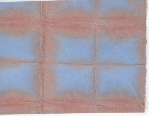 Itajime Shibori Window - Brown Blue