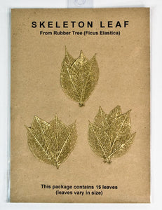Rubber Tree Leaves - Gold