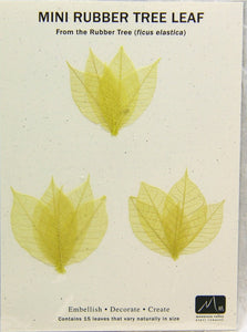 Rubber Tree Leaves - Citrine