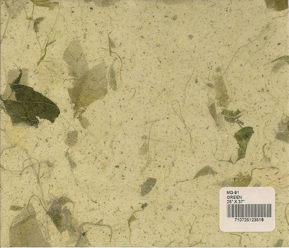 Mango Leaf Paper - Green