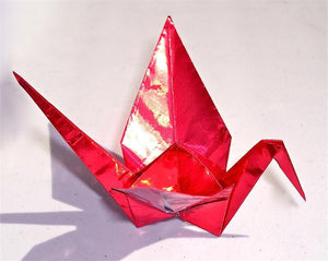 Red Foil Origami Paper