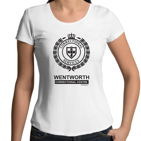 WENTWORTH - Womens Scoop Neck - Logo Lockup