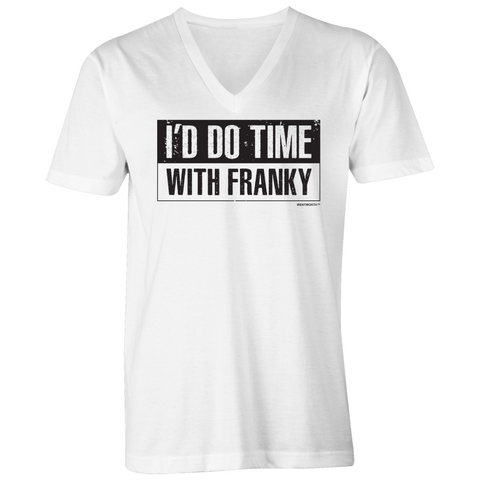 WENTWORTH - Mens V-Neck Tee - Time with Franky