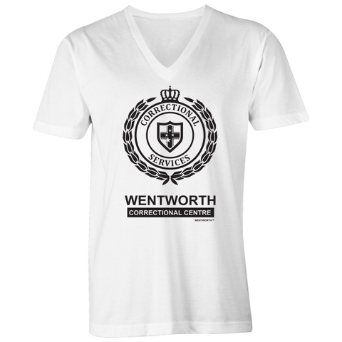 WENTWORTH - Mens V-Neck Tee- Logo Lockup