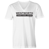 WENTWORTH - Mens V-Neck Tee - Logo Large