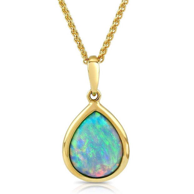10ct Gold Opal Pendant - Paul Wright Jewellery