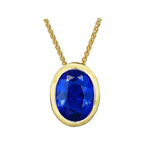 10ct Gold Sapphire Pendant - Paul Wright Jewellery