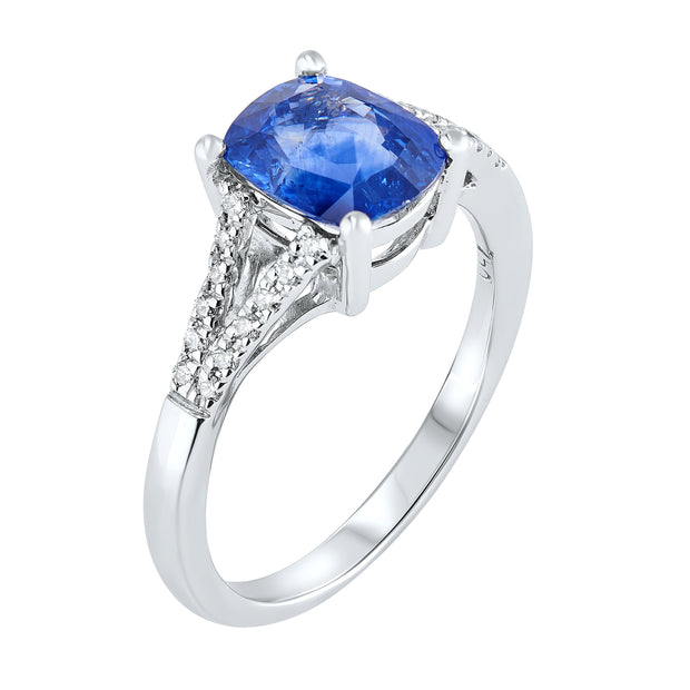 18ct Gold Sapphire & Diamond Ring 1.95ct - Paul Wright Jewellery