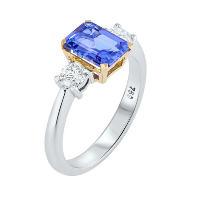 18ct Gold Tanzanite & Diamond Ring 1.42ct - Paul Wright Jewellery