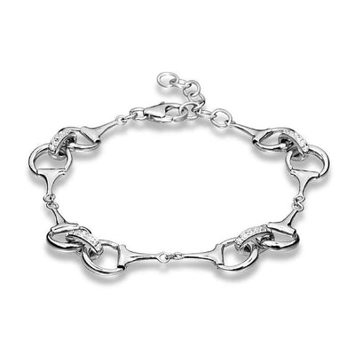 925 Silver Snaffle Bit Bracelet from our Handmade Equestrian Jewellery Collection. Ref: AEB004 - Paul Wright Jewellery