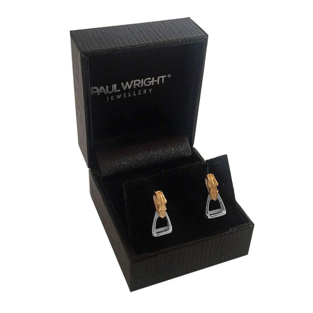 925 Silver Stirrup Earrings from our Equestrian Jewellery Collection. Ref AE-E035 - Paul Wright Jewellery