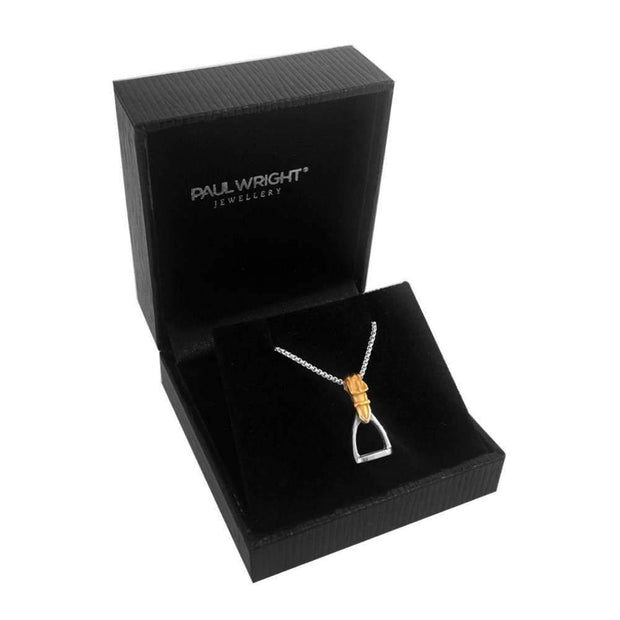 925 Silver Stirrup Pendant Necklace from our Equestrian Jewellery Collection. Ref AE-P036 - Paul Wright Jewellery
