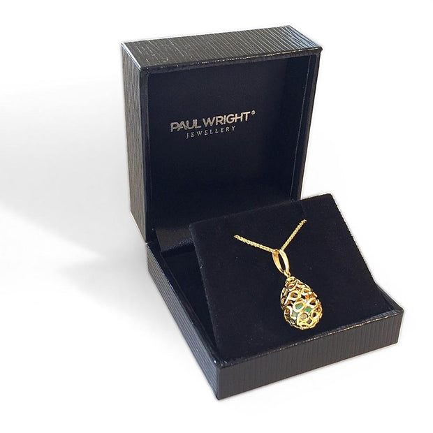 9ct Gold 'Infinity Egg' Fob Pendant - Paul Wright Jewellery